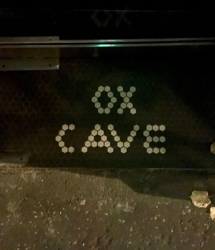 Ox Cave tile detail door gastrogays belfast
