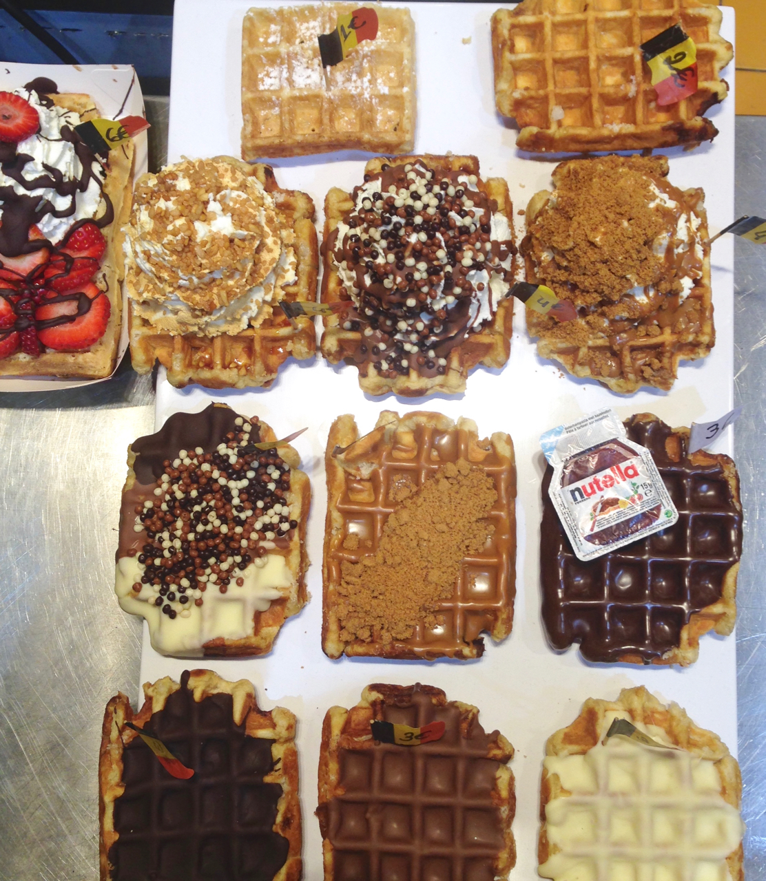 gaufres los churros brussels grand place waffles gastrogays