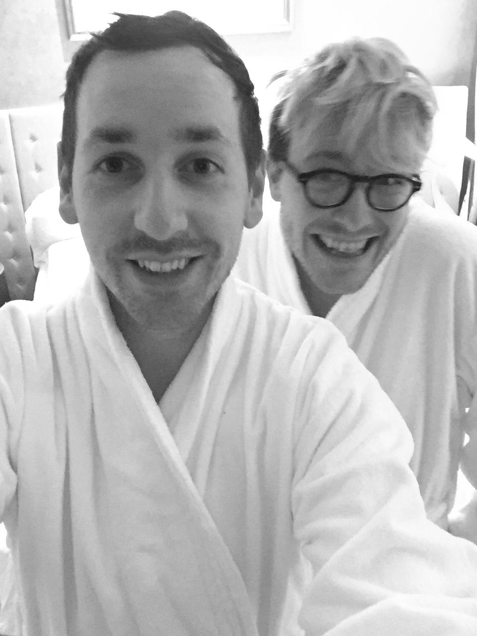 Gastrogays fluffy robes G Hotel Galway