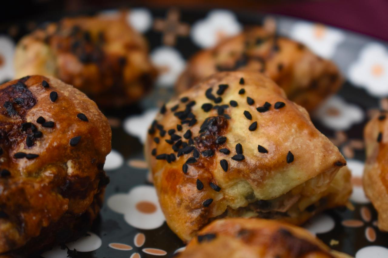 glazed black pudding rolls gastrogays