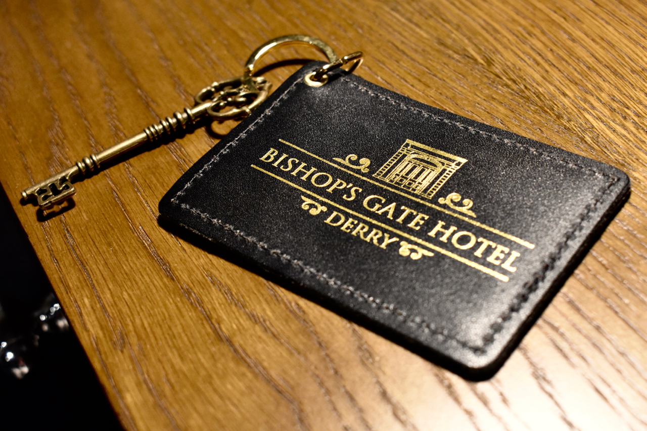 Bishops gate Hotel room key Derry