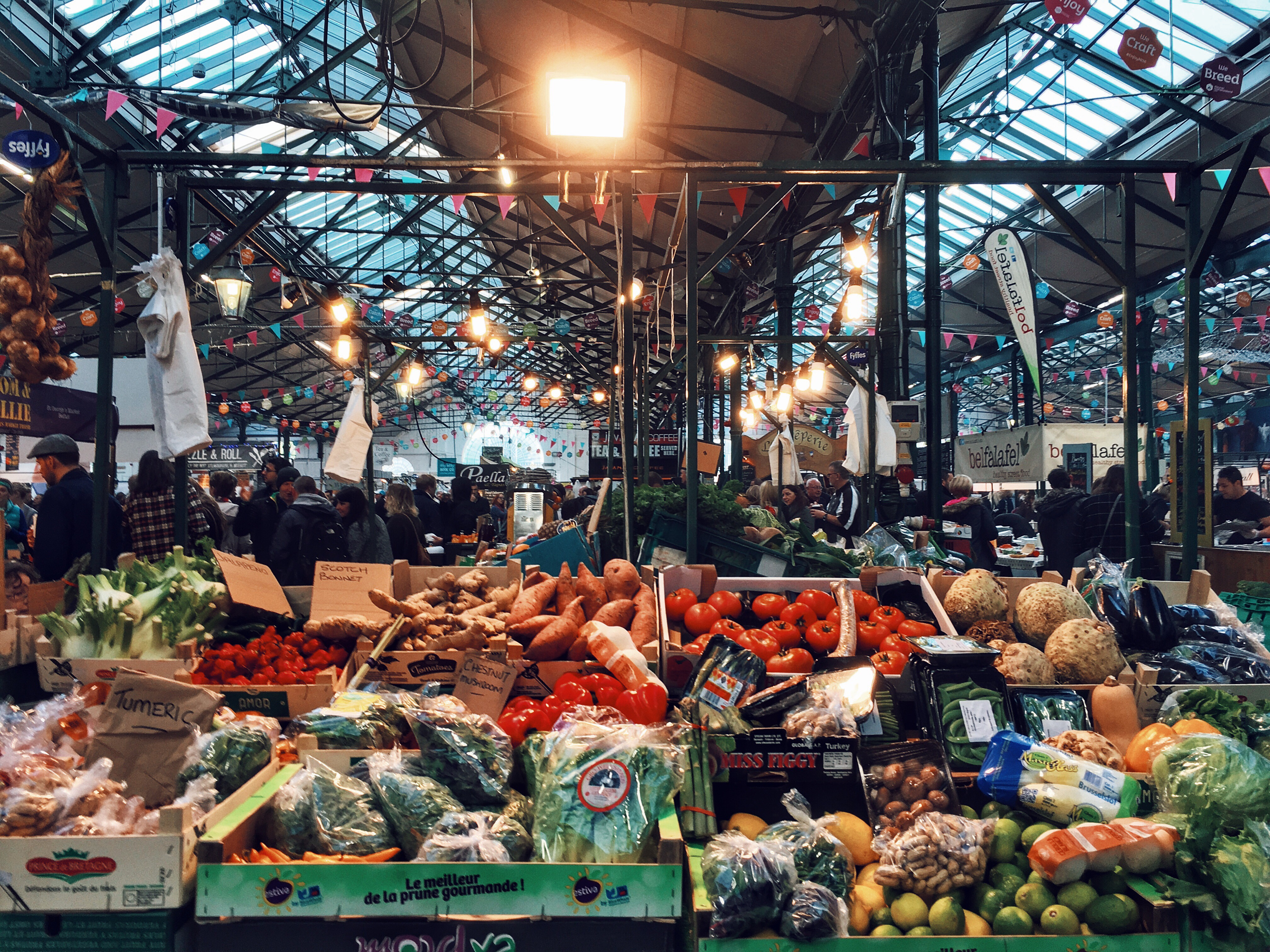 belfast, market, St. Georges Market, food, fruit & vegetables