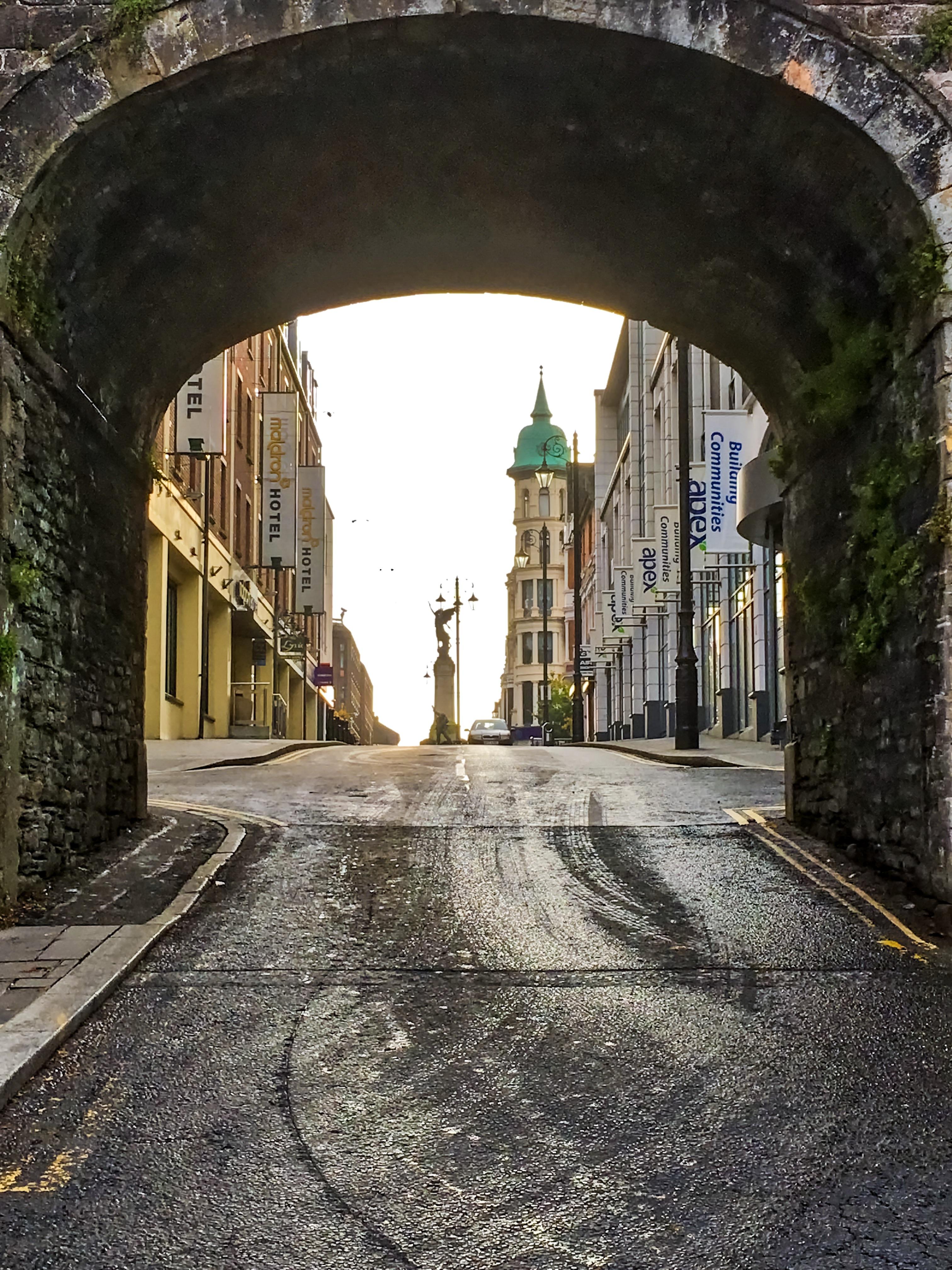 derry walls, viaduct, derry, londonderry, northern ireland
