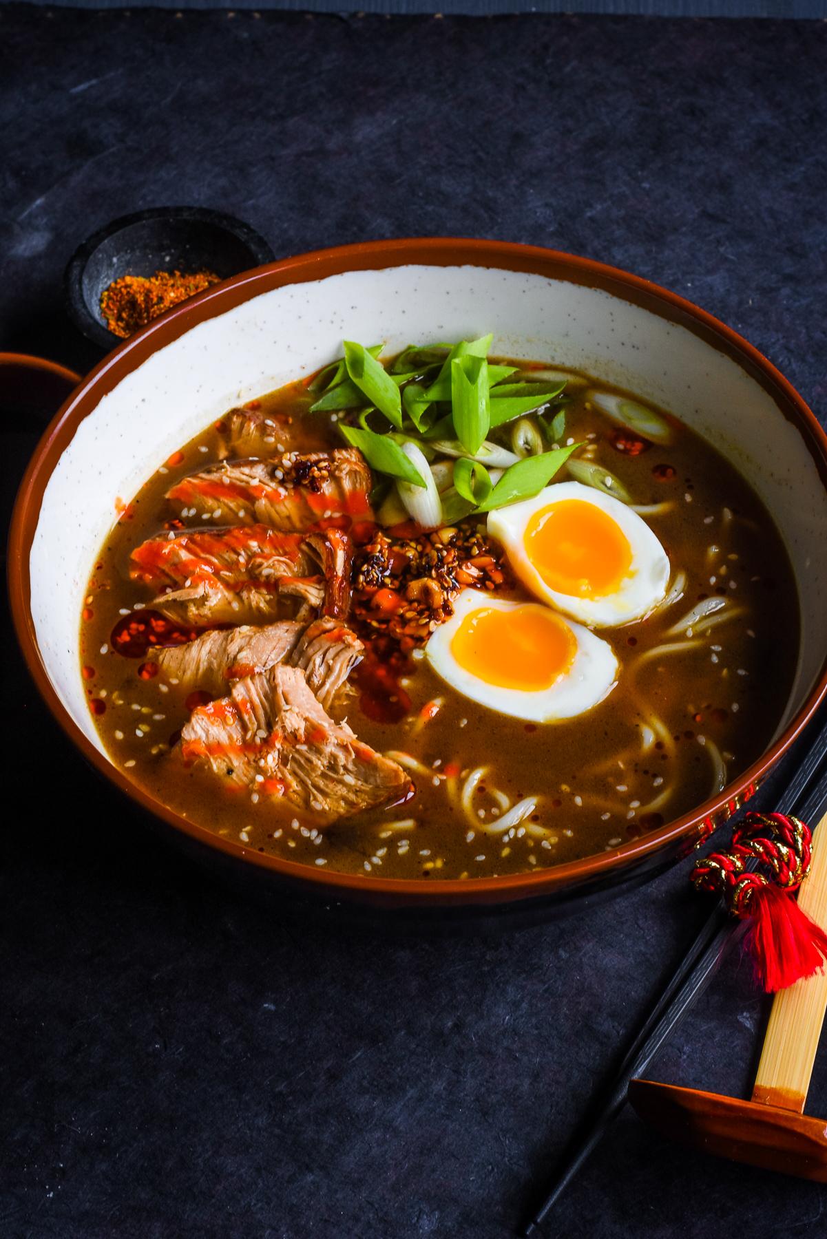 Slow Cooked Pork Ramen #PorkNight [AD] | GastroGays