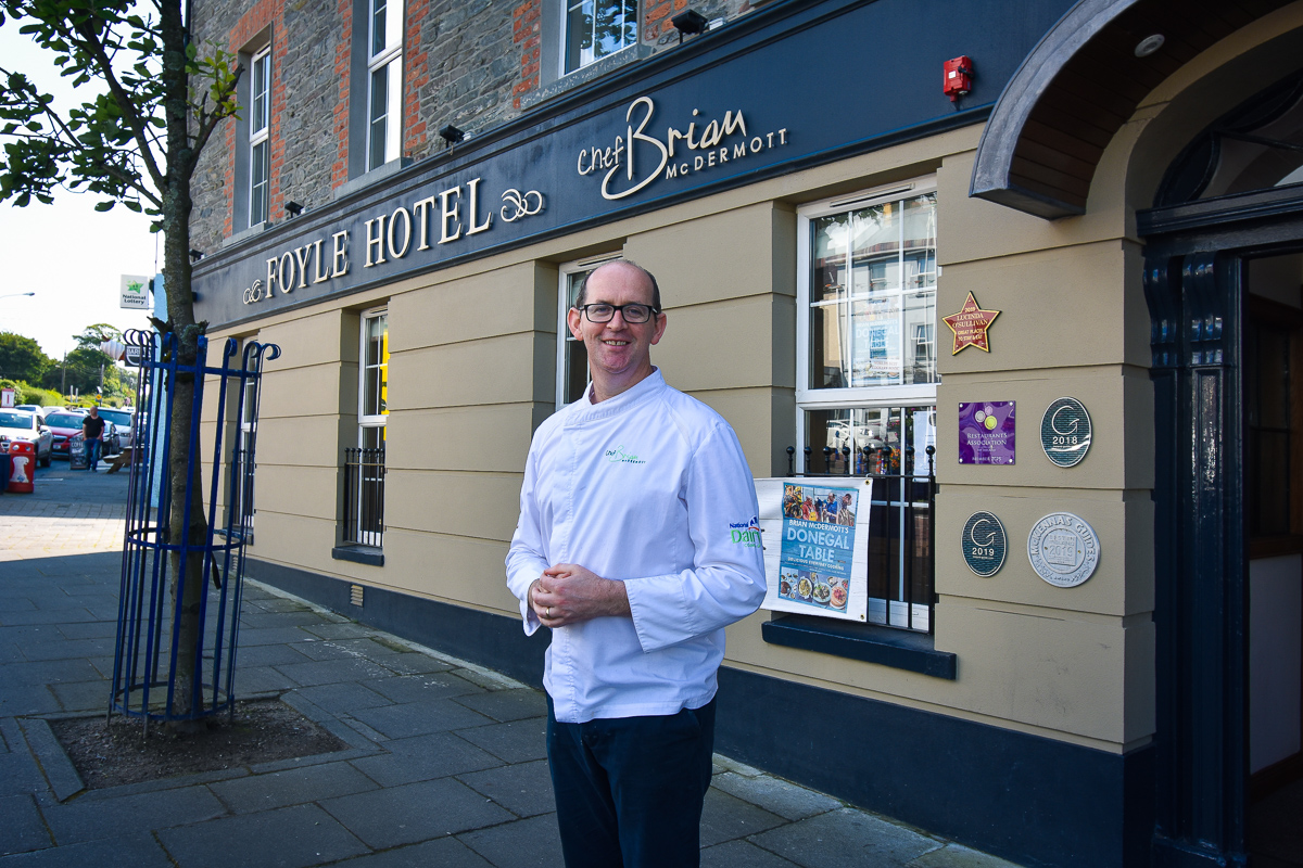best place to eat Donegal, Bord Bia Just Ask Restaurant of the Month, Brian McDermott Donegal, Brian McDermott Foyle Hotel, Chef Brian McDermott, Donegal cuisine Irish food, Donegal food, Donegal Table Brian McDermott, Donegal Table Brian McDermott cookbook, Foyle Hotel Donegal, GastroGays Donegal, Moville Donegal, Moville hotel, Moville Hotel Donegal, Moville restaurants