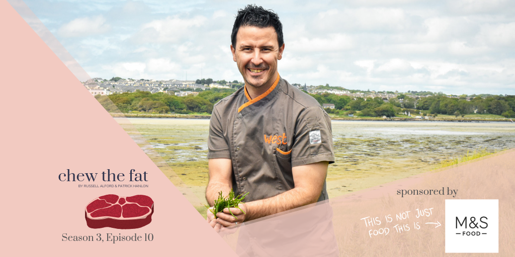 Barna Hotel Galway, best food podcasts, Chef Martin O'Donnell, Chef Martin The Twelve Hotel, chef podcast, Chef The Twelve Barna, Chew The Fat GastroGays, Chew The Fat interview, chew the fat podcast, Connemara Barna, Fergus O'Halloran, Fergus The Twelve Hotel, food podcast, food podcasts, Gaeltacht hotel Galway, Galway chef interview, inspiring podcasts food, irish food podcast, Martin O'Donnell, Patrick Hanlon Chew The Fat, Russell Alford Chew The Fat, seaweed foraging galway, The Twelve Hotel Barna, West The Twelve Martin Chef